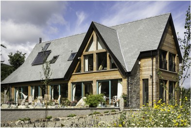 Shaw and Pattie's Oak Framed House in Northern Ireland