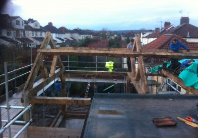 Raising an Oak Frame in Bristol