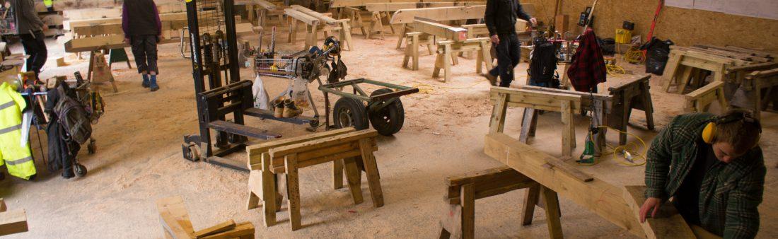 Busy in the Westwind Oak workshop