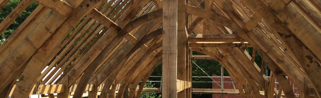 Westwind raising an Oak Frame in Surrey